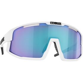 Bliz Vision Occhiali, matt white/smoke with blue multi